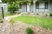 Charlottes Honor, Tocumwal garden and entrance opposite creek