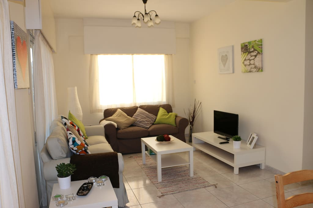 Colourful & peaceful living room