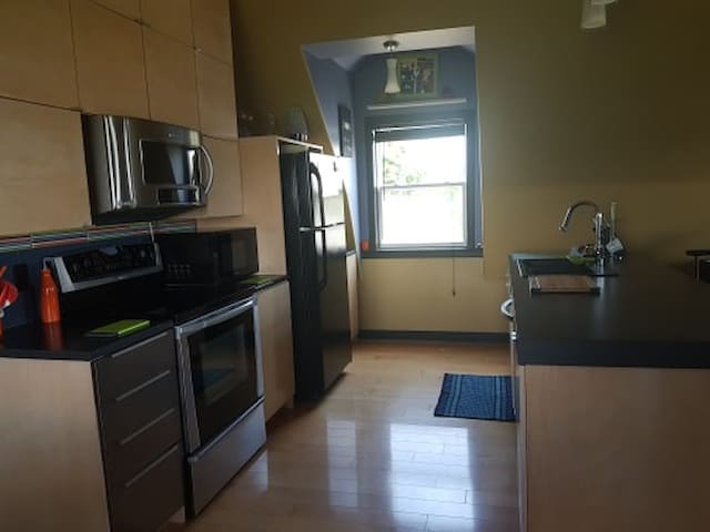 Modern kitchen with dishwasher as well