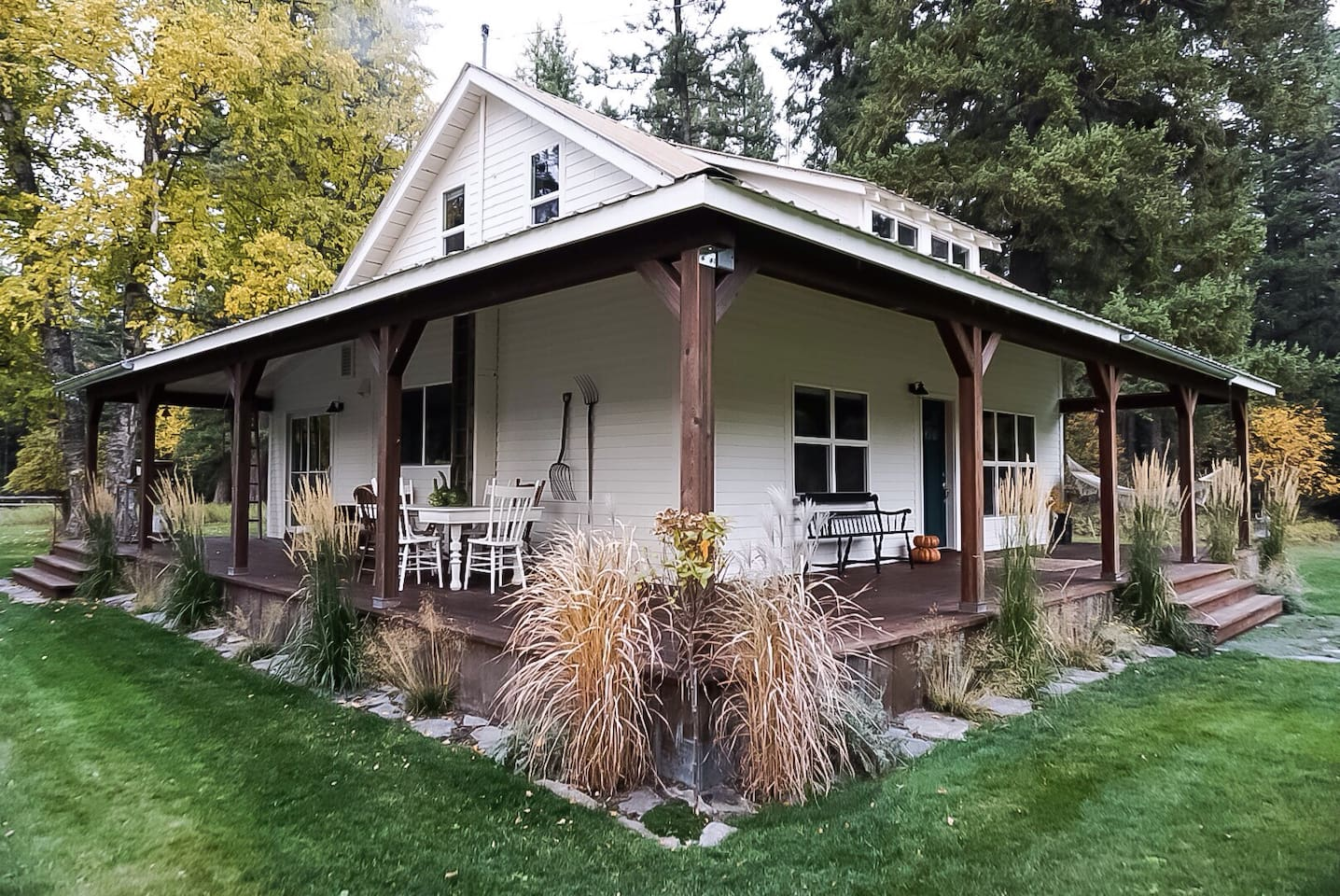 1920s fully restored mountain cottage in Bigfork, MT  1400 sq ft and 1.25 green acres mixed with trees and woods