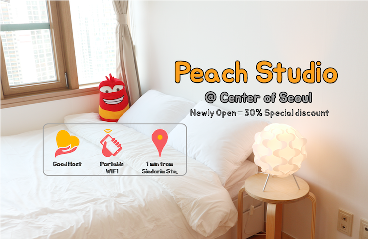PEACH HOUSE - 2min from SINDORIM Station - Guro-gu - Appartamento