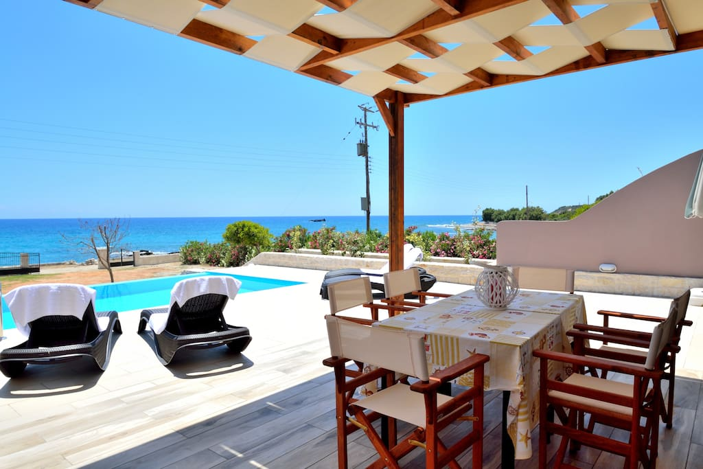 Enjoy your dinner next to the pool