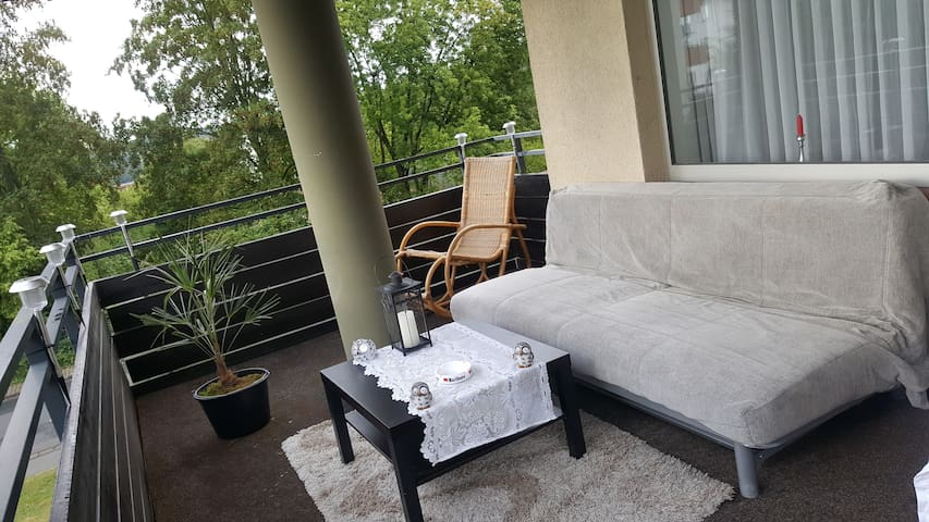 Large apartment for you alone;) with 20m2 balcony - Buseck - Osakehuoneisto