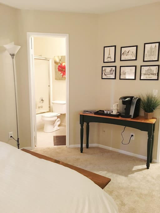 Bedroom with private attached bathroom