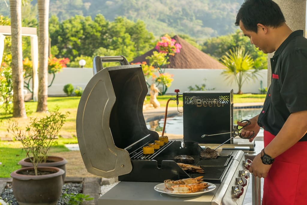 Luxury Villas Phuket In Villa Restaurant Barbeque