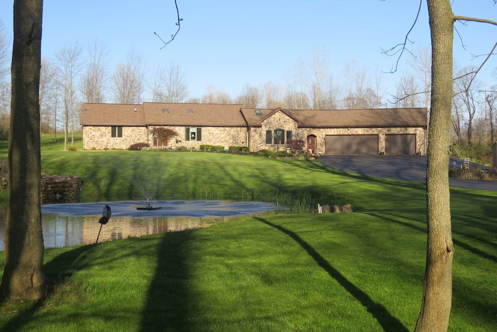 Property: 17 acres to explore, pond and hen house with fresh eggs.