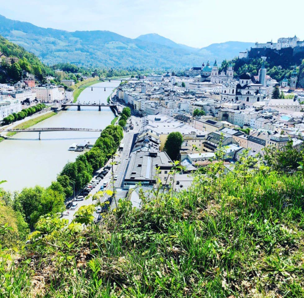 Not the view from the Apartment - its a Symbolic photo of Salzburg City