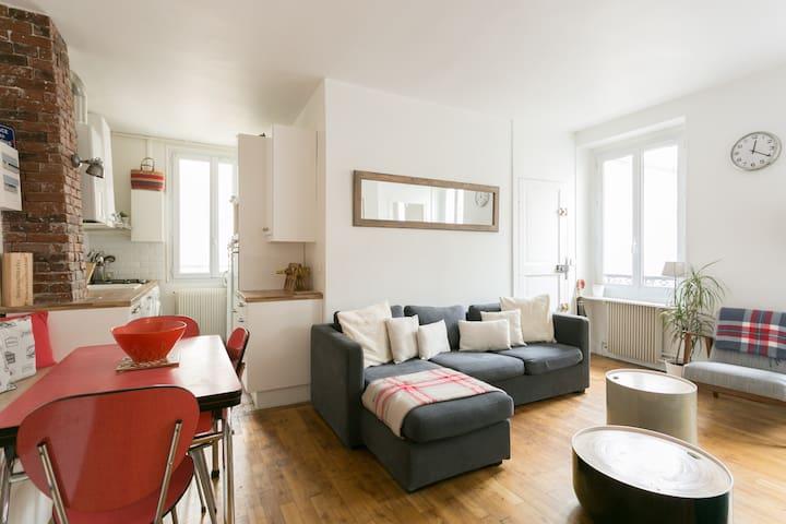 Paris - Appartement Calme - Metro - Issy-les-Moulineaux - Apartamento