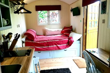 Luxurious Shepherds Hut + Private Garden & Views - Wrotham - Hut