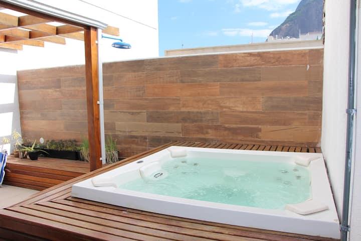 # Leblon 3 rooms +terrace, 100m beach