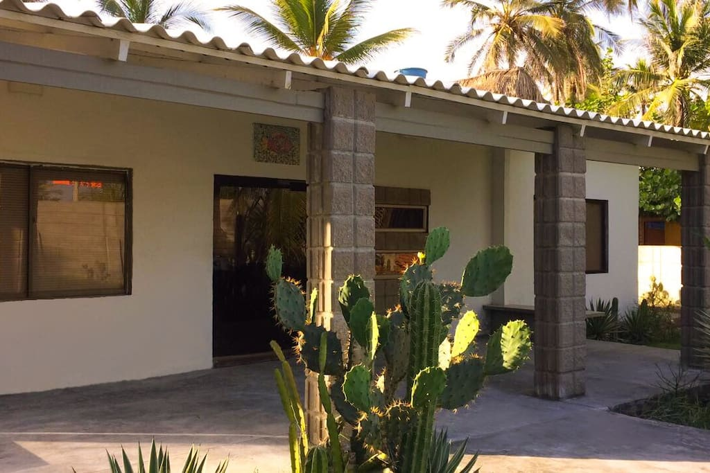 The main entrance of the beach house
