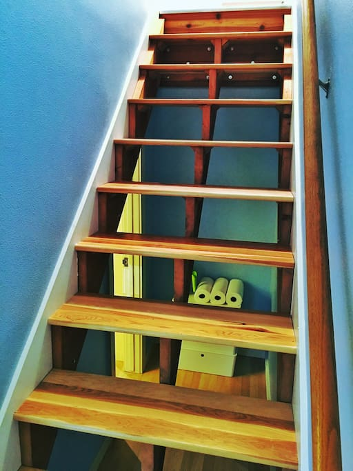 And brand-new hardwood and open back staircase