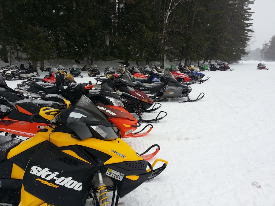 This IS snowmobile country!