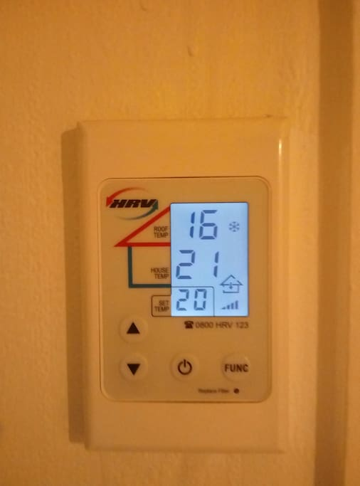 HRV in each room to keep the house a lovely temperature.