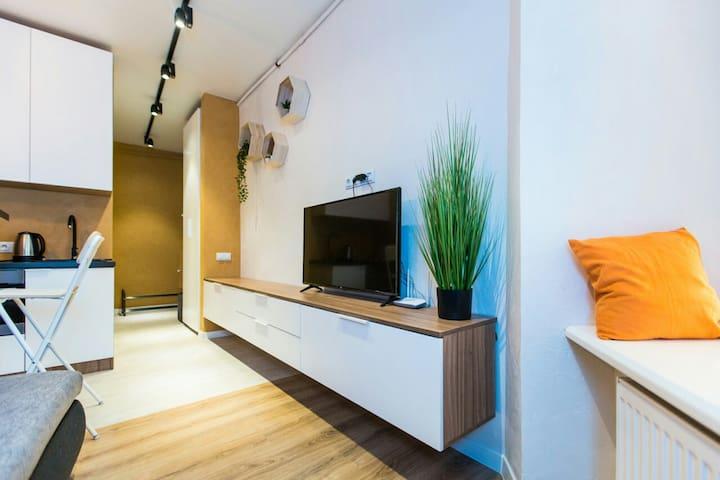 Bright Studio♥2M to Lviv Polytechnic♥Best Location