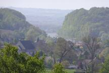 Chateau Neercanne ( 12 minutes by car), view on Canne (Belgium)