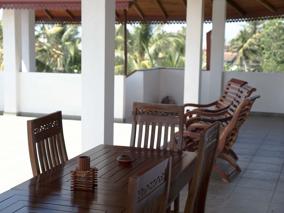 terrace with shady verandah
