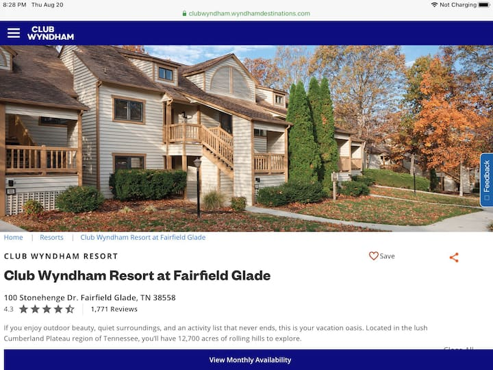 Wyndham resort at Fairfield Glade get away