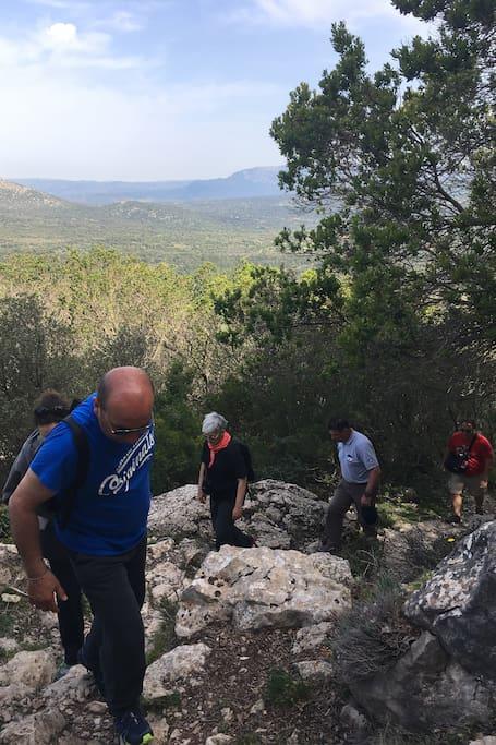 trekking verso il cuile di Ghirveri