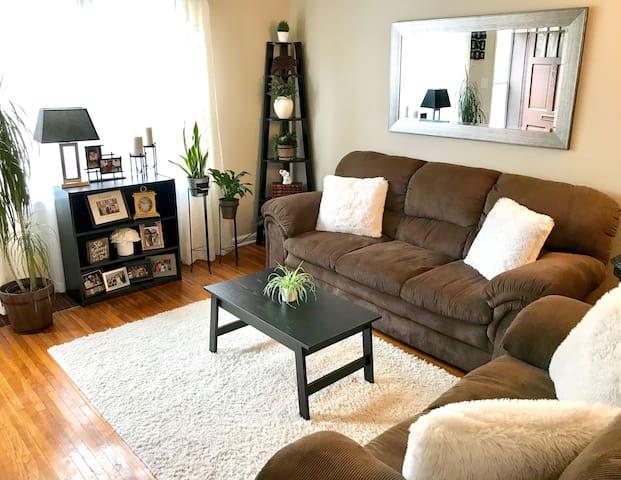 Living Room in Winter Decor