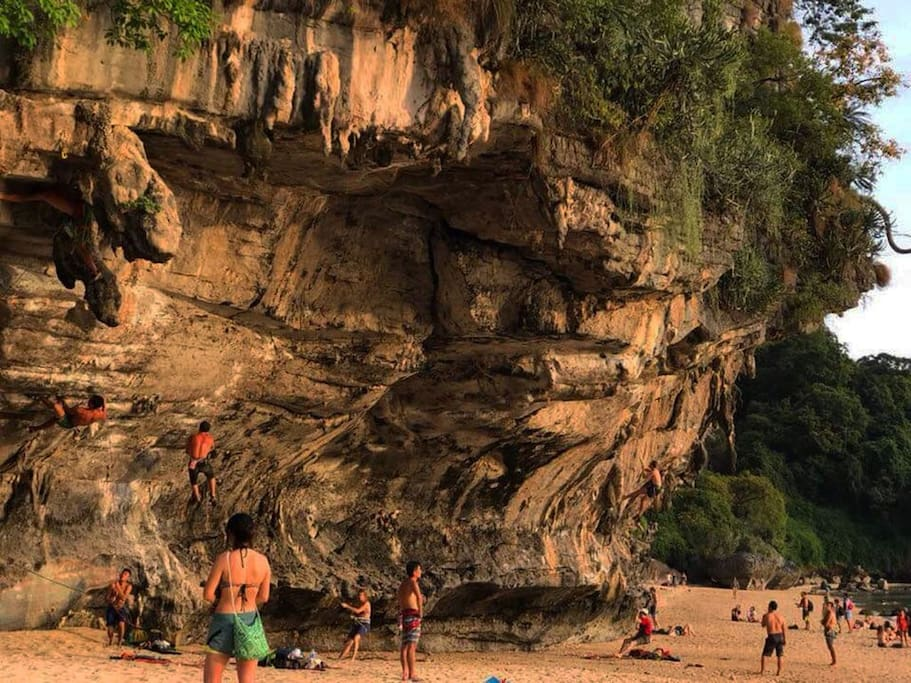 Rock climbing at tonsai