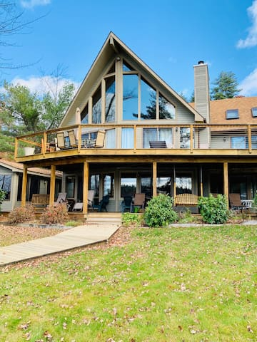 SIS13Wfc - Blackey Cove Waterfront Home Lake Winnipesaukee