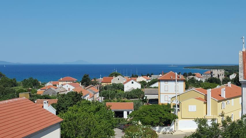 Villa Palazzo- Zadar, Olib- App. Meerblick - Primorsko-goranska županija - Daire