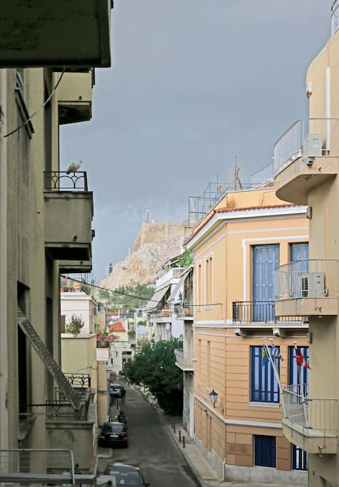 Balcony view of the Acropolis