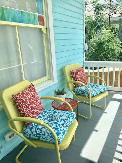 Enjoy your morning coffee on the front porch while enjoying the gulf breeze and watching pelicans fly by.
