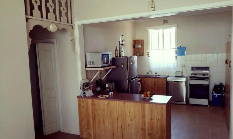 Shared kitchen,  dishwasher, fridge,  microwave and oven,  tea towel and dish washing liquid.