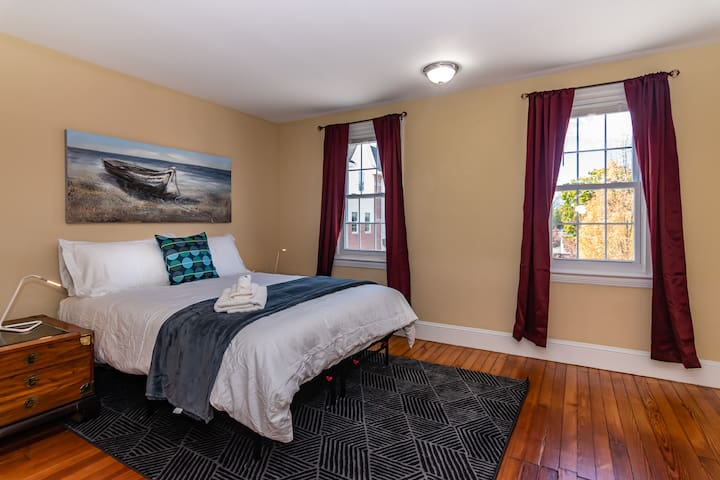 Master bedroom: enjoy free mints when you arrive! Like our furnishings? See kit.co/curranlodging