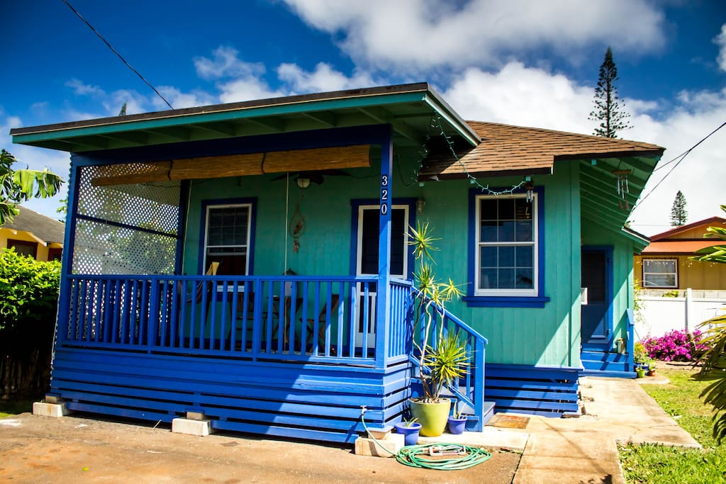 Lanai guest house houses for rent in lanai city hawaii for Lanai garden designs