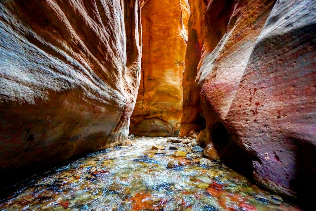 Southern Utah Slot Canyons are the best. They are just a few hours drive south.