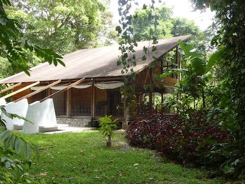 Tropical Villa in a Nature Reserve at the Beach