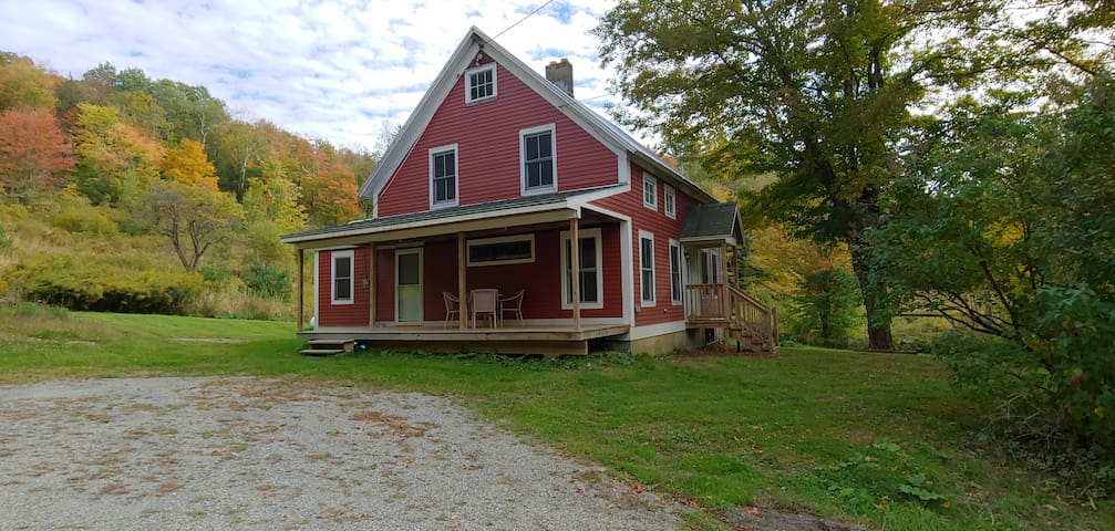 Vermont farmhouse tucked in the woods