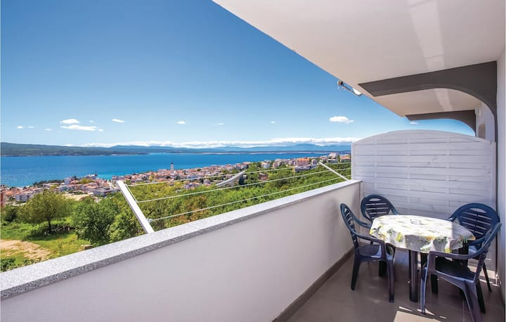 Beautiful apartment in Crikvenica with WiFi and 1 Bedrooms