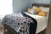 Queen bed upstairs very comfortable