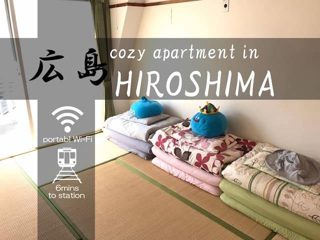 6min/sta☆Comfy Tatami room +WiFi