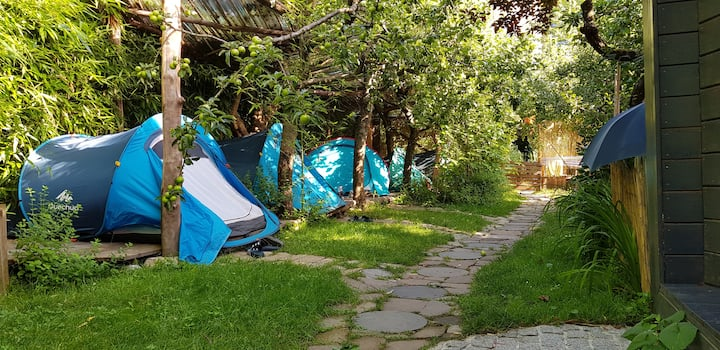 Boutique camping in the city center