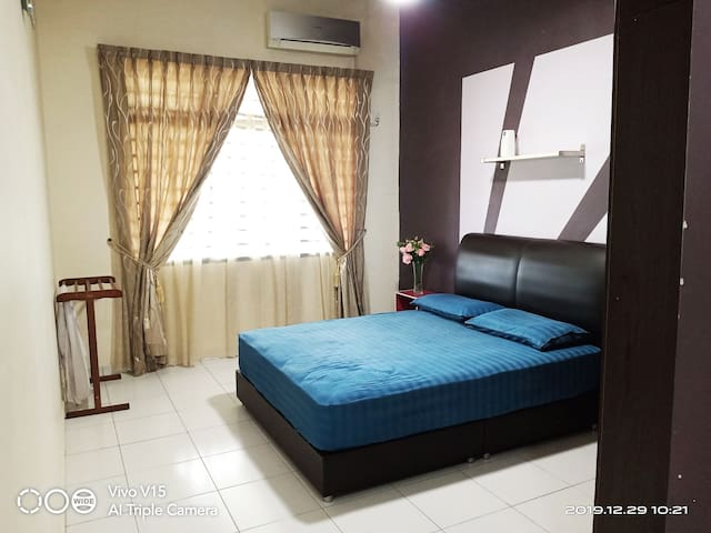 Comfortable master bedroom with air condition