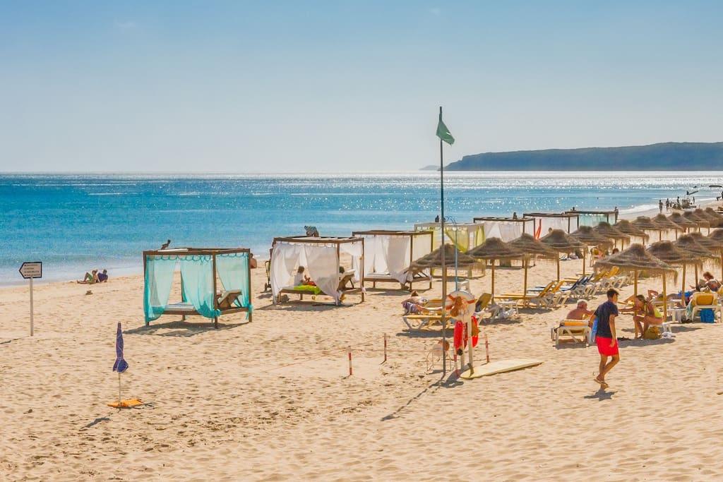Salema beach less than 3 km away
