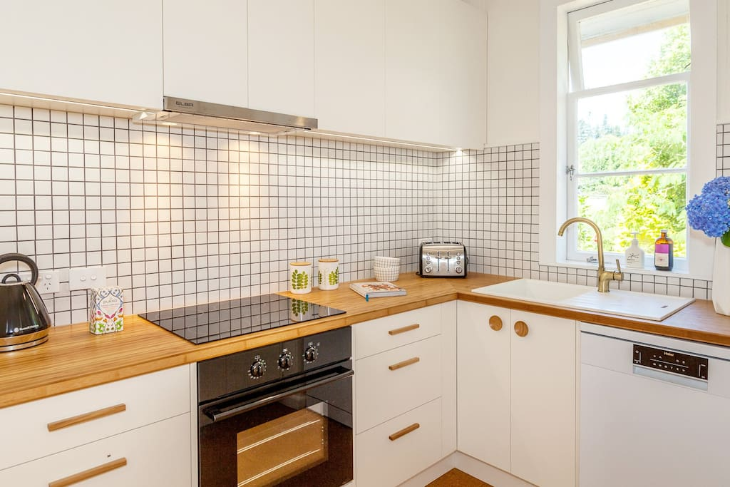 Well equipped kitchen for self catering - dishwasher too