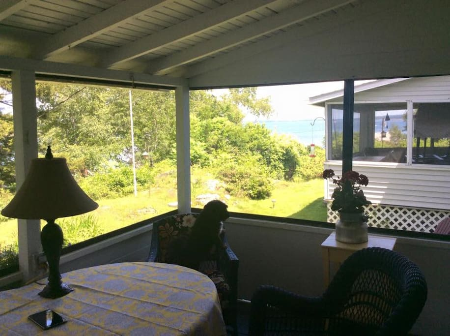 Ocean view from screened in porch.