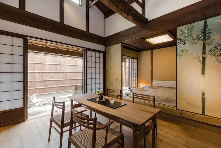 B:Kyoto MACHIYA with garden woodbath Barrier free
