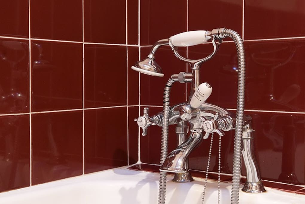 Nice photo of the bath taps but there is a shower room too!