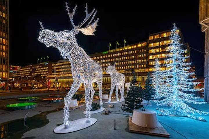 Very cool christmas decorations in Stockholm this year.