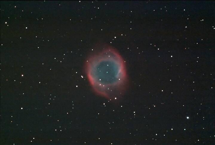 本人拍摄的螺旋星云