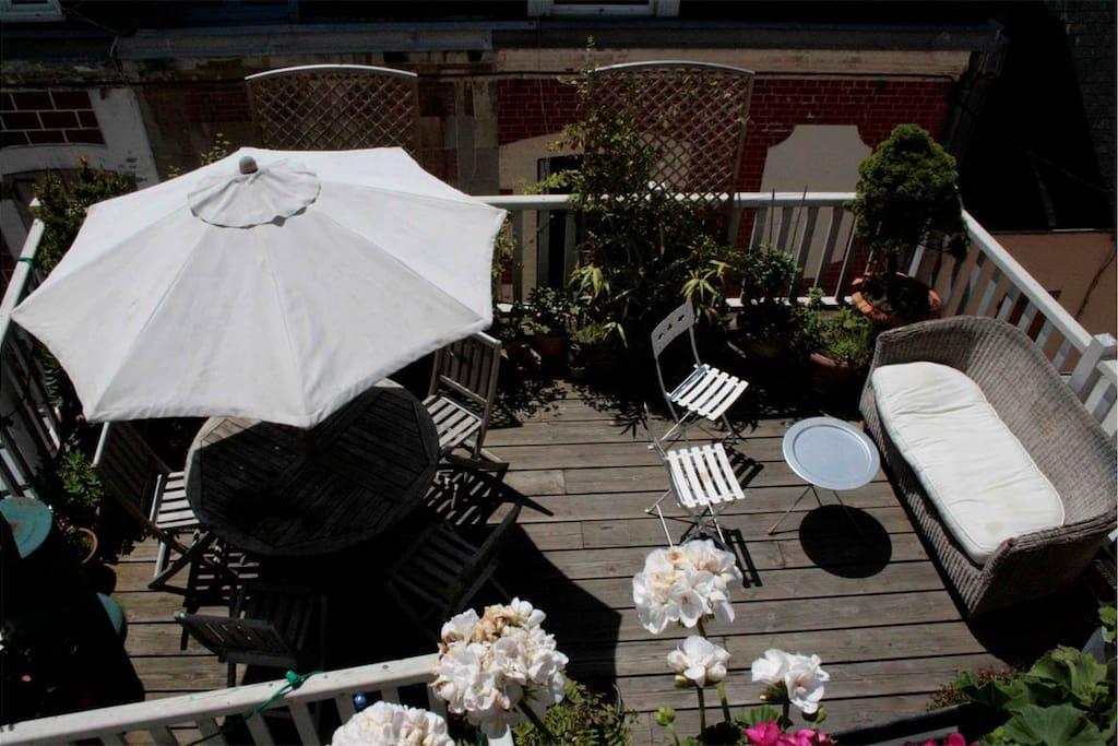 Beautiful sunny terrace