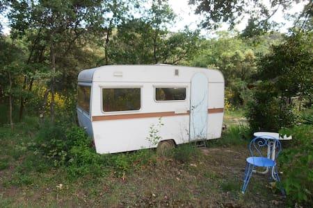 Caravane chambre pleine nature - Clansayes - Campingvogn