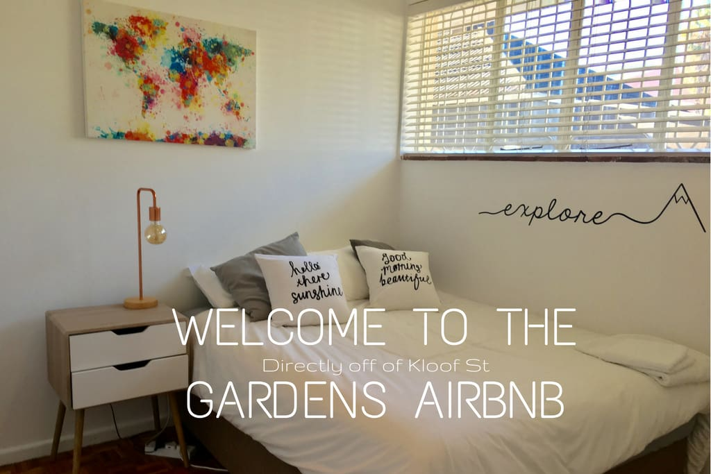 Welcome to our super central Airbnb! Located right off of Kloof St, it is the perfect place to base your holiday!